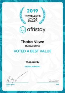 Thaba'Nkwe Afristay 2019